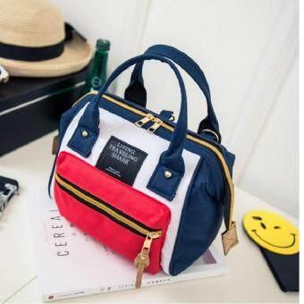 รีวิวพันทิป HM กระเป๋าสะพายหลังแฟชั่น พร้อมถือ สไตล์เกาหลี รุ่น033 (สีแดงน้ำเงิน)