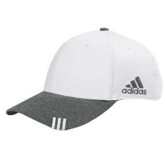 หมวก adidas ของแท้ แบบปรับขนาดได้ สีขาว/ปีกเทา