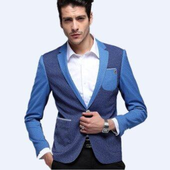 Icey Men's 700g Slim Suits(Color:Sea Blue)