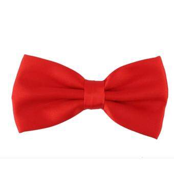 Harga หูกระต่าย สีแดง Men's Classic Pre-Tied Formal Tuxedo Bow Tie