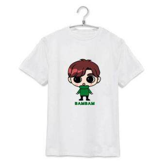 Harga ALIPOP KPOP GOT7 Fly Concert BAMBAM Cartoon Album Shirts K-POP Clothes Cotton Tshirt T Shirt Short Sleeve Tops T-shirt DX307 (White) - intl