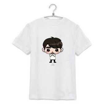 Harga ALIPOP KPOP GOT7 Fly Concert JR Cartoon Album Shirts K-POP Clothes Cotton Tshirt T Shirt Short Sleeve Tops T-shirt DX307 (White) - intl