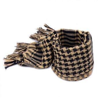 Harga Military Men Scarves Tactical Lattice Scarf Sand color - intl
