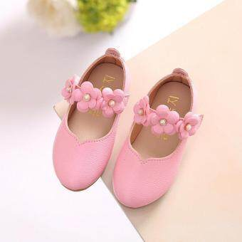 Harga Cute Baby Girl's Child's Kid's Princess Toddler Flat Kids School Casual Leather Shoes I110 Pink - intl