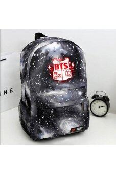 Harga V SHOW Bts Bangtan Boys Hot Bts Bulletproof Cadet Corps ShoulderBagbackpack Shoulder Bag Dual-Bts Album Bts Poster B.A.P Bag(Color:Black) - intl