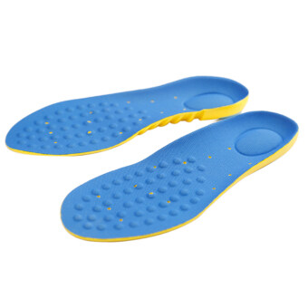 Harga 1 Pair Man's Foot Orthotic Arch Support Massaging Insole (Blue)