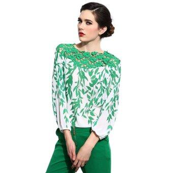 Harga Crochet Pattern Sewing Country Style Silk Shirts