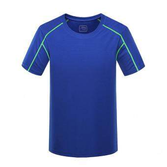 Harga Men Sport Short Sleeve T- Shirt Plus Size (XXXXL – blue)