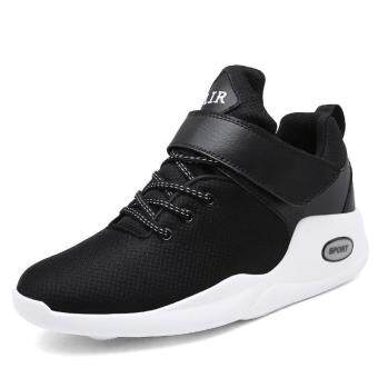 Harga Fashion sneakers men sports shoes breathable sneakers High quality man Basketball shoes Larger Size (black) - intl