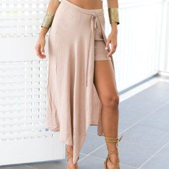 Harga Zaful Woman Chiffon Skirt Polyester Split Design (Nude Pink) - Intl