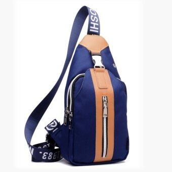 Harga New men and women general fashion casual shoulder bag backpack manufacturers none other direct sales trendy chest(blue) - intl