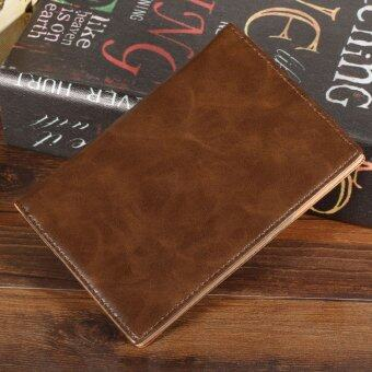 Harga JinGle Men Synthetic Leather Passport Cover Credit Card Holder Bag (Coffee)