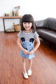 Harga New 2017 Striped Patchwork Character Girl Dresses Long Sleeve Cute Mouse Children Clothing Kids Girls Dress Kids Clothes - intl