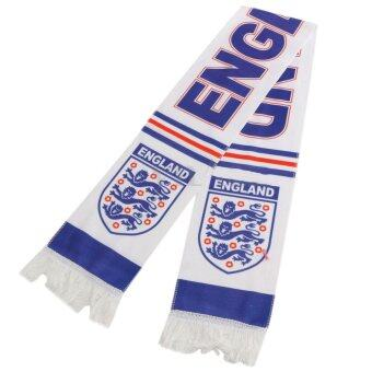 Harga JinGle European Cup Olympic England National Team Football Soccer Scarf Souvenir (White)