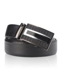 Harga Demon&Hunter Men's Ratchet Leather Belt DHY8201 (Black) - intl
