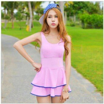 Harga Summer One-piece Swimming Suit Swimwear Sexy Swimsuit Fashion Bathing Suit Pink - intl(Int:M)