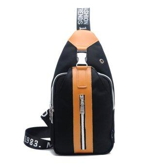 Harga New men and women general fashion casual shoulder bag backpack manufacturers none other direct sales trendy chest(black) - intl
