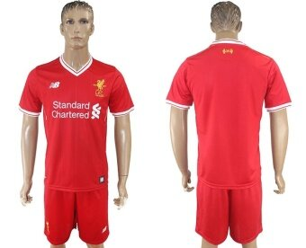 Harga 2017-2018 Premier League Liverpool Blank Red Men's Home Football Soccer Club Jersey - intl