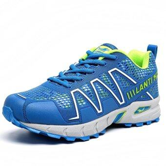 Harga PINSV Men Fashion Breathable Sports Running Shoes (Blue) (Intl)