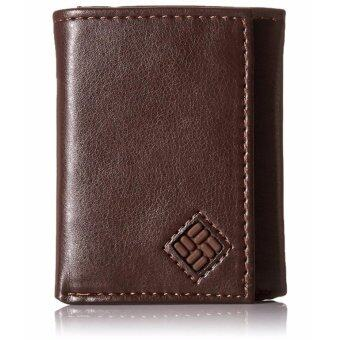 Harga Columbia Men's RFID Blocking Trifold Security Wallet Brown - intl
