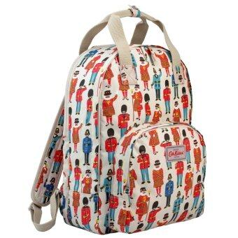 Harga Cath Kidston Matt Oilcloth Multi Pocket Backpack Rucksack 16SS Guards & Friends Cream Colour 557702