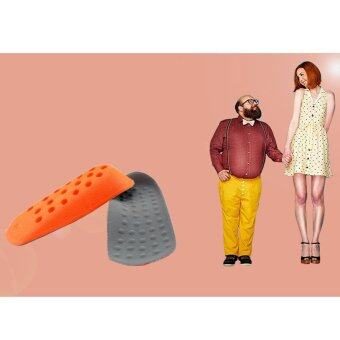 Harga One Pair of Height Increase Shoes Inserts Insoles Pads Heel Lifts Taller Pad for Man and Woman - intl