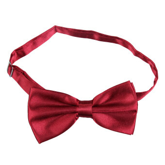 Harga YBC Men Polyester Silk Bowtie Tied Glossy Wedding Bow-tie Wine Red - intl