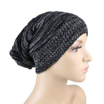 Harga JNTworld Knitted Wool Cap Knitted Hat Wool Cap Winter Hat Unisex Hat Cap(Black) - intl