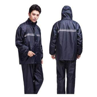 Harga Men Raincoat Suit - Navy Blue - intl