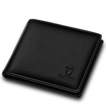 Harga PLAYBOY High Quality Mens Leather Wallet(black) - intl