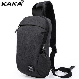Harga Lan-store Premium Quality Male Bag--KAKA Man Chest Bag Light Multifunction Men Single Shoulder Bag Anti-Theft Messenger Bag Male Crossbody Bag (Black) - intl