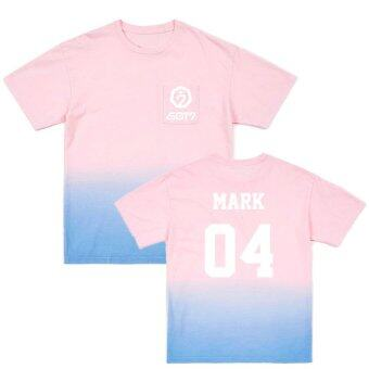 Harga ALIPOP Kpop GOT7 Seoul Concert MARK Album Gradient Color Shirts Cotton Clothes Tshirt T Shirt Short Sleeve Tops T-shirt DX426 (Pink) - intl