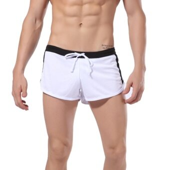 Harga Fashion Men's Beach Swimming Swim Trunks Shorts Slim(White)L - intl