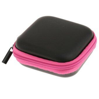Harga MagiDeal Mini Box Case Storage Bag Pouch for Earphone Headphone Headset Earbuds Pink - intl