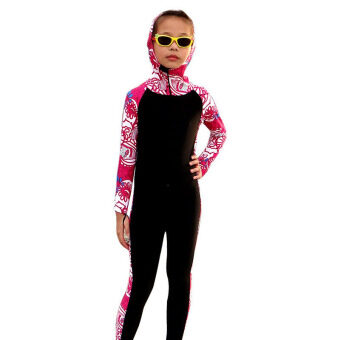 Harga Child One Piece Wetsuit Girls Swimsuit Scuba Snorkeling Diving Suit Kids Swimwear Fullsuit Wet Suit (Pink)
