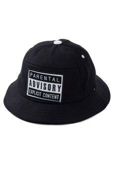 Harga Cosplay Unisex Parental Advisory Letters Embroidery Bucket Hat (Black)