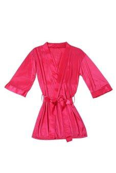 Harga Sexy Lingerie Night Bathrobe Gstring Rose