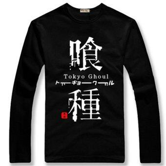Harga Anime Tokyo Ghoul Long Sleeves Shirt T-shirt Tops Kaneki Ken Cosplay Collection(Black) - intl
