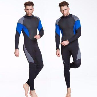 Harga Ocean NEW Men conjoined Diving suit neoprene rubber 3mm semi-dry suit(Black) - intl
