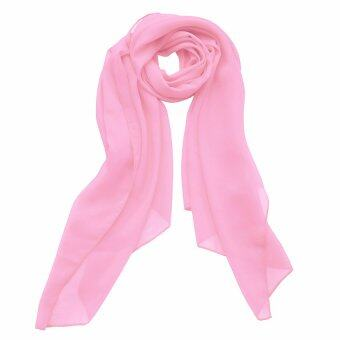 Harga JinGle Women Large Rectangle Chiffon Cover-up Wrap Scarf (Pink)