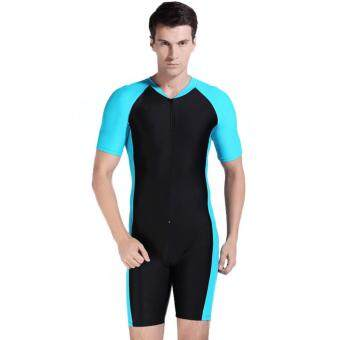 Harga TF Men's diving suit Surfing clothes bathing suit (Light blue)(Int:XXL)-intl