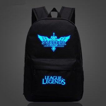 Harga League of Legends LOL DOTA OMG WE clan Noctilucent backpack schoolbag