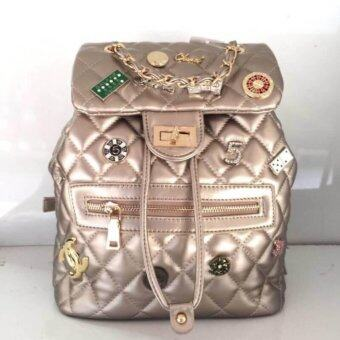 Harga Back pack bag for Girl Chanel style Golden