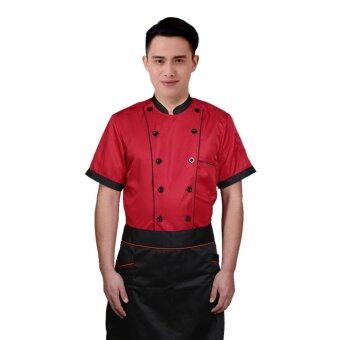 Harga Uniex Chef Coat Working Unifor Rsetaurant KitchCooker hort eeve - intl