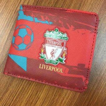 Harga Liverpool FC Football Wallet Folded PU Purse 12*10cm - intl