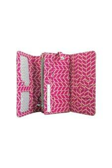 Harga Kipling Brownie Wallet (สี Chevron Magenta Print)