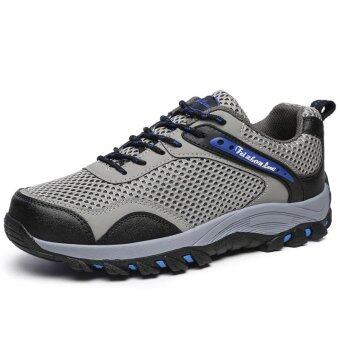 Harga รองเท้ากีฬากลางแจ้งชายรองเท้าปีนเขารองเท้าปีนเขาสูง Men's Outdoor Sports Shoes Hiking Shoes Mountain Climbing Shoes