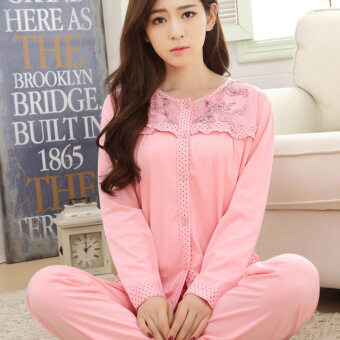 Harga Autumn and winter long-sleeved pajamas sports home service suits M-XXL 17.5 yuan