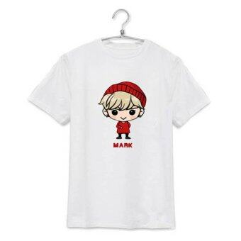 Harga ALIPOP KPOP GOT7 Fly Concert Mark Cartoon Album Shirts K-POP Clothes Cotton Tshirt T Shirt Short Sleeve Tops T-shirt DX307 (White) - intl