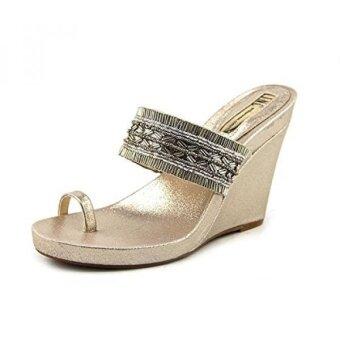 INC International Concepts Womens LIMON2 Open Toe Casual Platform Sandals Gold - intl